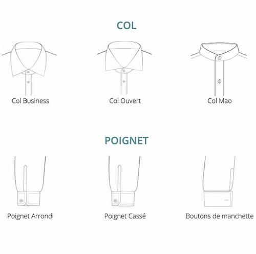 personnsalisation de la chemise col poiget