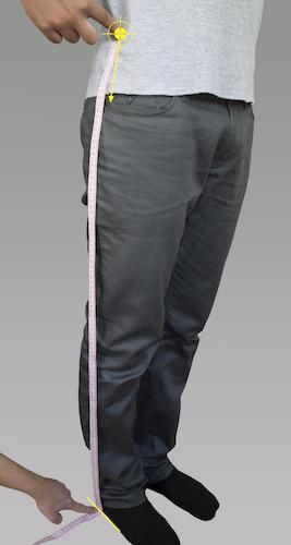 mesure de la longueur de jambe