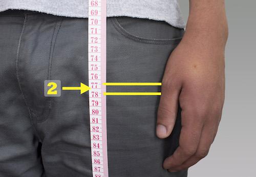 mesure de la longueur de veste
